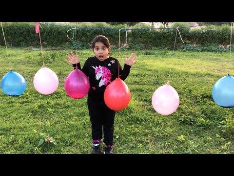 تحدي السلايم بالبالونات الملونة العملاقة !! Slime with giant Mystery colored balloons challenge