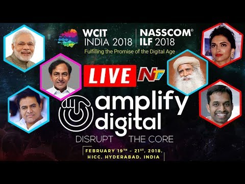WCIT LIVE - Global IT Congress in Hyderabad | NASSCOM 2018  | Narendra Modi | KCR | NTV