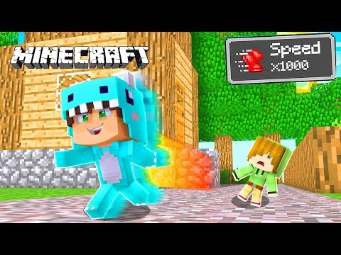 BEBE MILO SUPERA A FLASH En VELOCIDAD *increible* 😱 MINECRAFT ROLEPLAY