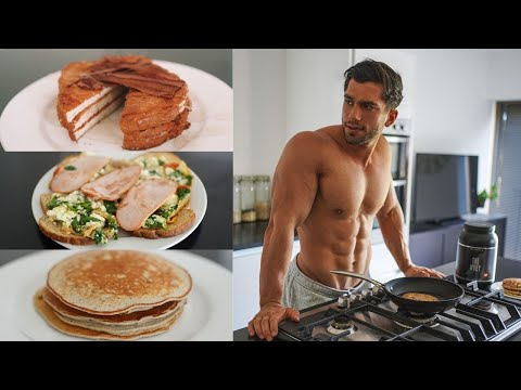 3 EASY HIGH PROTEIN BREAKFAST RECIPES To Gain Muscle (+40 grams) Pancakes, French Toast & Eggs