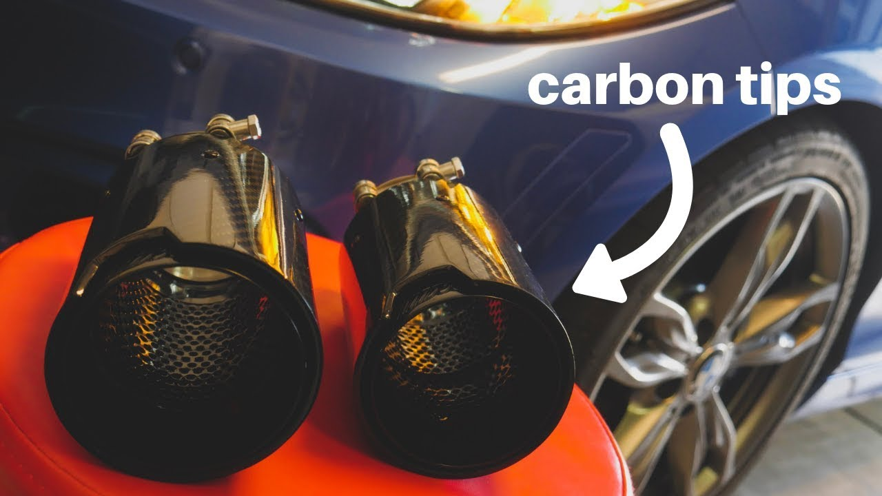 m235i gets m performance replica carbon exhaust tips