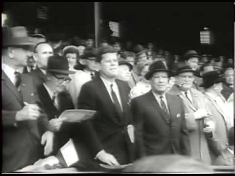 Baseball Season Opener 1961 JFK First Pitch (History