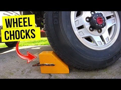 DIY Wheel Chocks for Auto or RV -Jonny DIY