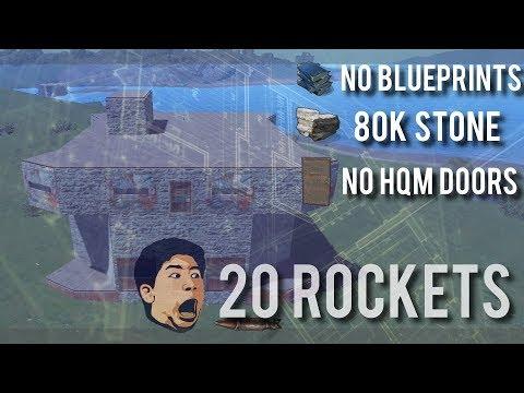 Rocket blueprints the ultimate no blueprints rust base 20 rockets80k stone malvernweather Choice Image