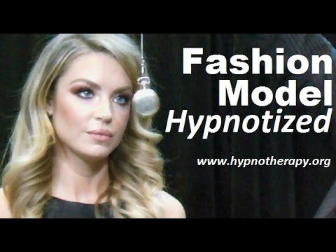Blonde Model hypnotized on live TV - Pocket watch induction, sleep trigger, jedi mind trick #NLP