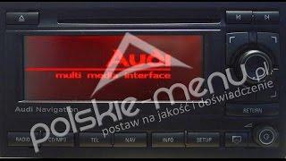 nawigacja bns 5 0 audi a3 a4 tt polskie menu