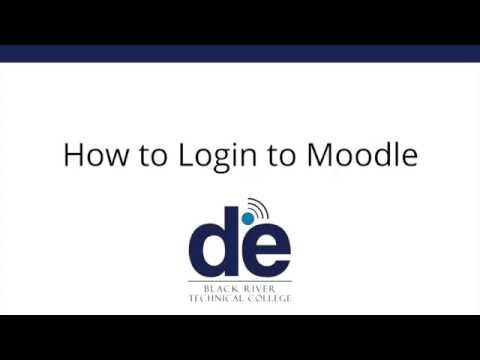 How to log in to Moodle -- Black River Technical College
