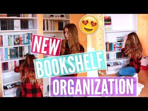 NEW BOOKSHELF ORGANIZATION | Timelapse Edition | katharia