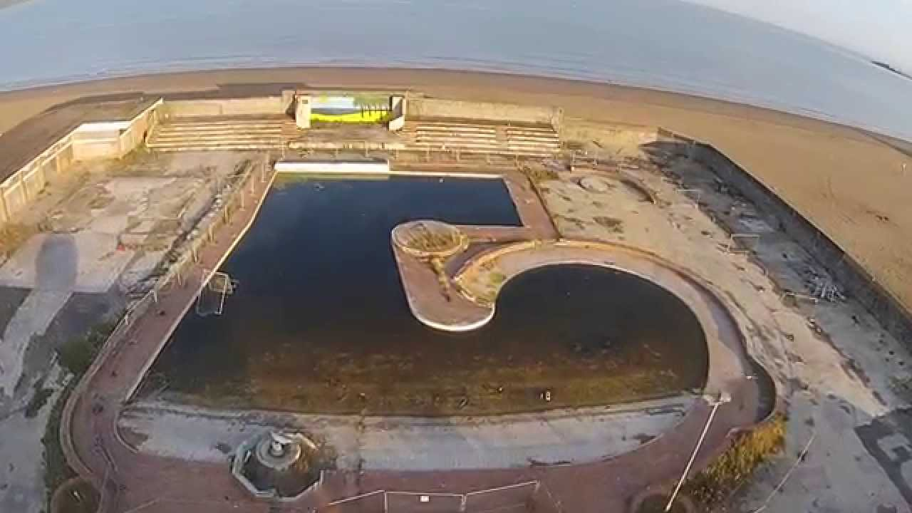 Ariel View Of Banksy 39 S Dismaland At The Tropicana Weston Super Mare This Is How 39 Dismal 39 It