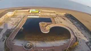 Ariel View of Banksy's Dismaland at The Tropicana Weston Super Mare , this is how 'Dismal' it was