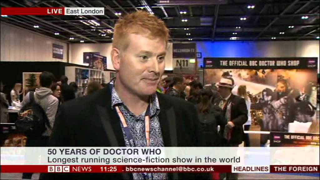 Philip Morris (Archive Specialist) talks about Doctor Who 50th Anniversary  (BBC News, 23 11 13)