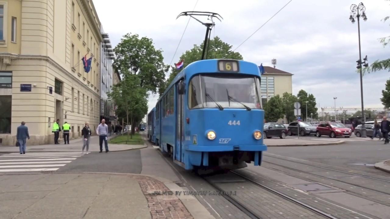 Trams In Zagreb Croatia 2019 Zagrebacki Elektricni Tramvaj