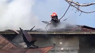 Incendiu locuinta, municipiul Giurgiu, Strada Banat