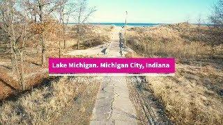 Lake Michigan from Michigan City, Indiana