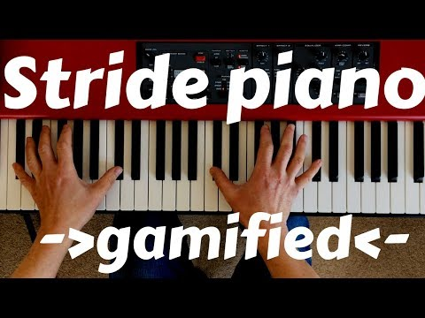 Stride Piano || Gamified Jazz/Blues Tutorial to Blast Your Hand Independence