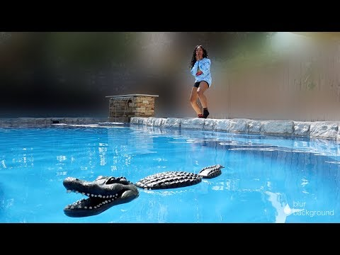 EPIC ALLIGATOR In Pool PRANK ON GIRLFRIEND!!!