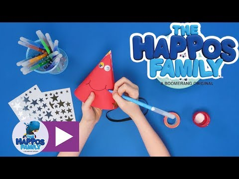 How to make a party hat I Create & Play for kids I The Happos Family