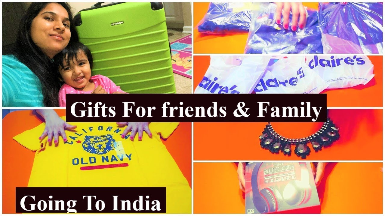 Going to India -Gifts For family & friends from USA/Indian NRI MOM/gift  ideas from USA to India