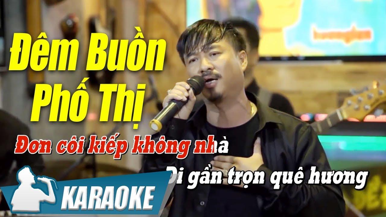 Đêm Buồn Phố Thị Karaoke Quang Lập (Tone Nam) | Nhạc Vàng Bolero Karaoke