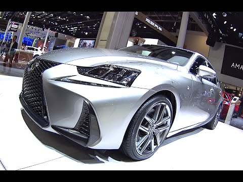 Luxury sedan Lexus IS 200T Video interior, exterior 2016, 2017 Lexus IS 200T facelifted sport luxury