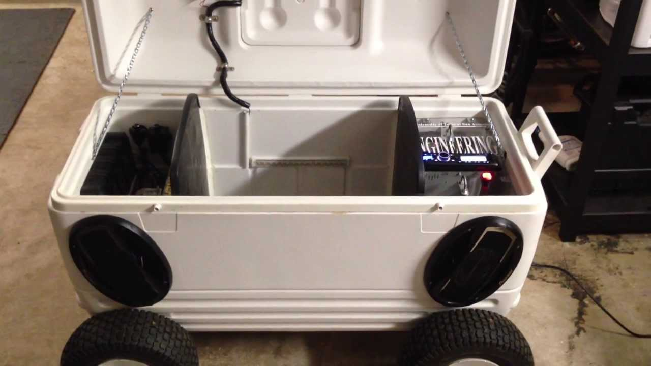 ULTIMATE ICE CHEST STEREO YouTube - How to make car cooler