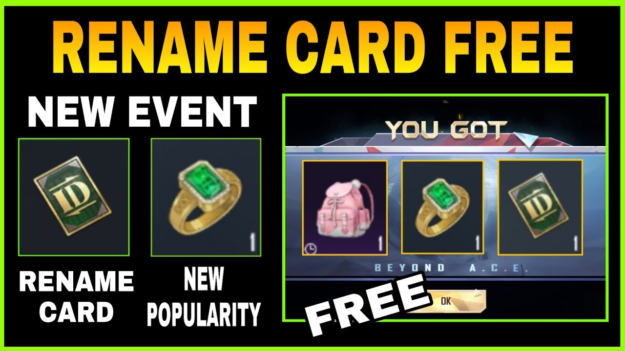 GET RENAME CARD, ROSE BAGPACK & 4000 POPULARITY POINTS || BLISSFUL REVERIE NEW EVENT IN PUBG MOBILE