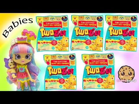 Unboxing 5 Twozies Baby + Pet Animal Surprise Blind Bags with Rainbow Kate - Cookieswirlc