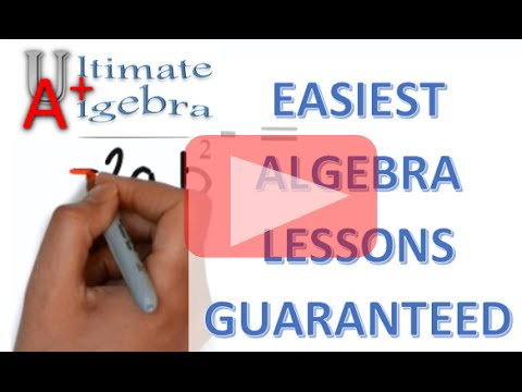 Lesson 1: Definition of terms in algebra --- Get the Full course Today @ UltimateAlgebra.com