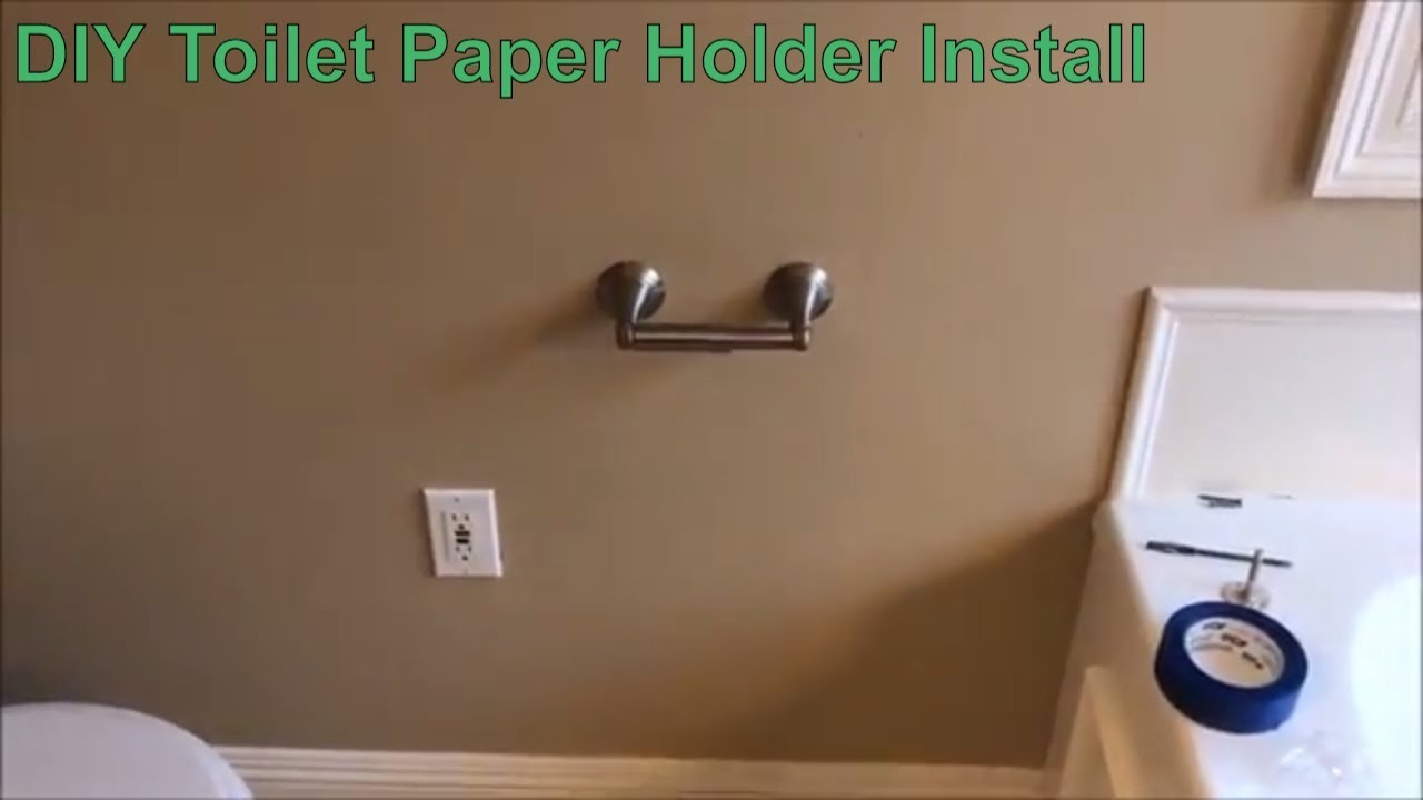 How To Install A Delta Toilet Paper Holder In Drywall Diy You