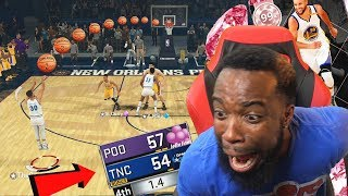 PINK DIAMOND CURRY DOWN BY 3! WIDE OPEN 1.4 SECS  BUZZER BEATER!? NBA 2k18 MyTeam!