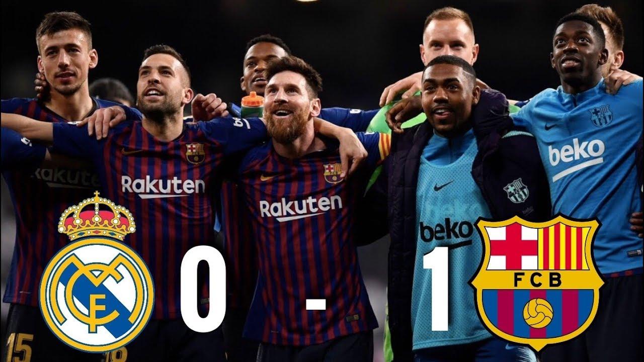 Барселона 0 1 реал мадрид видео обзор
