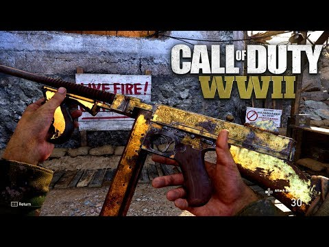 ROAD TO CHROME (GOLD M1928) - Call of Duty: WW2 Multiplayer Gameplay PS4 PRO