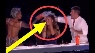 CRAZY! She THROWS Water On Her BOSS!   SHOCKING Moment On America's Got Talent 2017