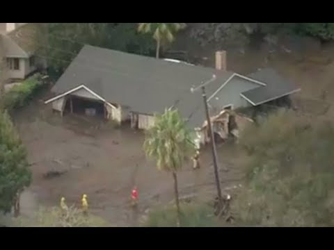 13 Dead in California Mudslides - LIVE BREAKING NEWS COVERAGE