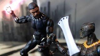 Avengers Black Panther vs Killmonger ft Power Rangers Stop Motion Animation Video Part 1 w toys