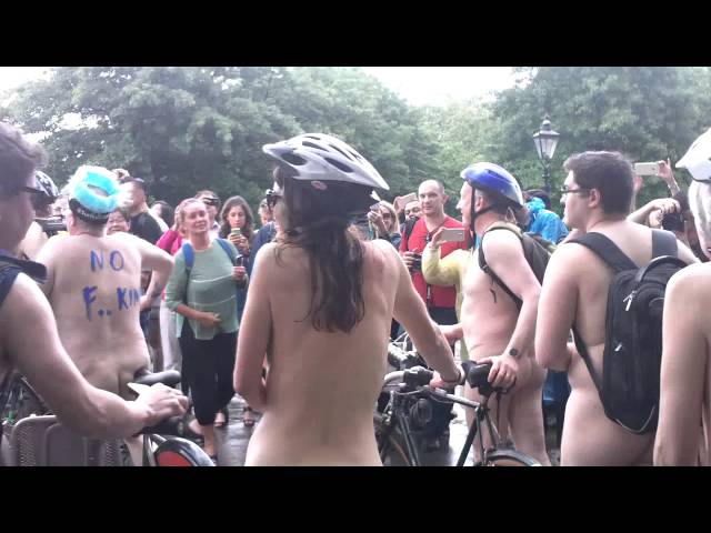 The London 2016 Naked bike Ride part1 Warning Contains Full Frontal Nudity