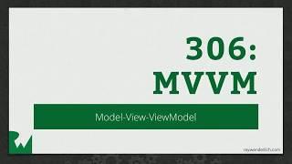 MVVM in Practice - RWDevCon Session - raywenderlich.com