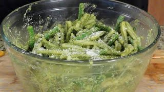 Pistachio-citrus Pesto Green Beans And Gemelli