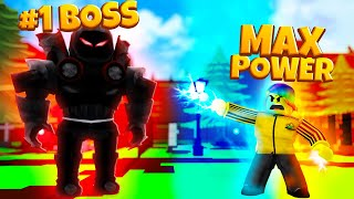 I used OWNER LEVEL POWERS and BATTLED the MAX SUPER VILLAIN! (Roblox)