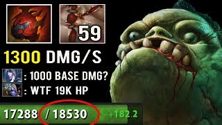 18500 HP PUDGE vs MEGACREEP Crazy 4000 Damage Ulti Imba Apex Comeback Divine Rank Fun 7.23e Dota 2