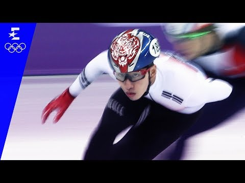 Short Track Speed Skating | Men's 1,500m Highlights | Pyeongchang 2018 | Eurosport