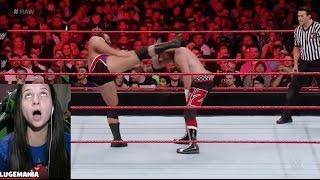 WWE Raw 11/7/16 Sami Zayn vs Rusev