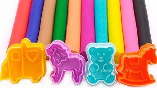 Learn Colors with Play Doh and Cookie Molds Surprise Toys | How to Make Play Doh Animals for Kids