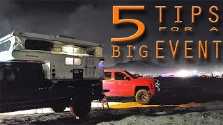 5 TIPS for CAMPING at a LARGE EVENT with a TRUCK CAMPER - KOH 2019