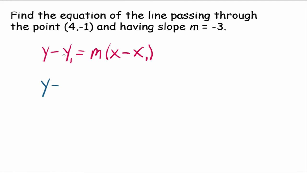 point slope form mathway  Point Slope Form: Examples (videos, worksheets, solutions ...