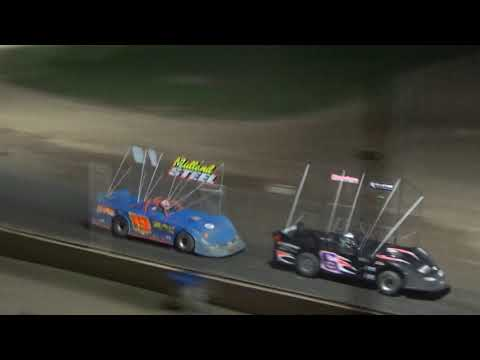 Outlaw Late Model Feature at Crystal Motor Speedway, Michigan on 09-15-2018!