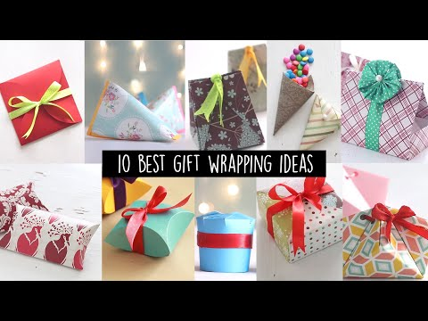 10 BEST GIFT WRAPPING IDEAS | PAPER CRAFT | GIFT WRAPPING