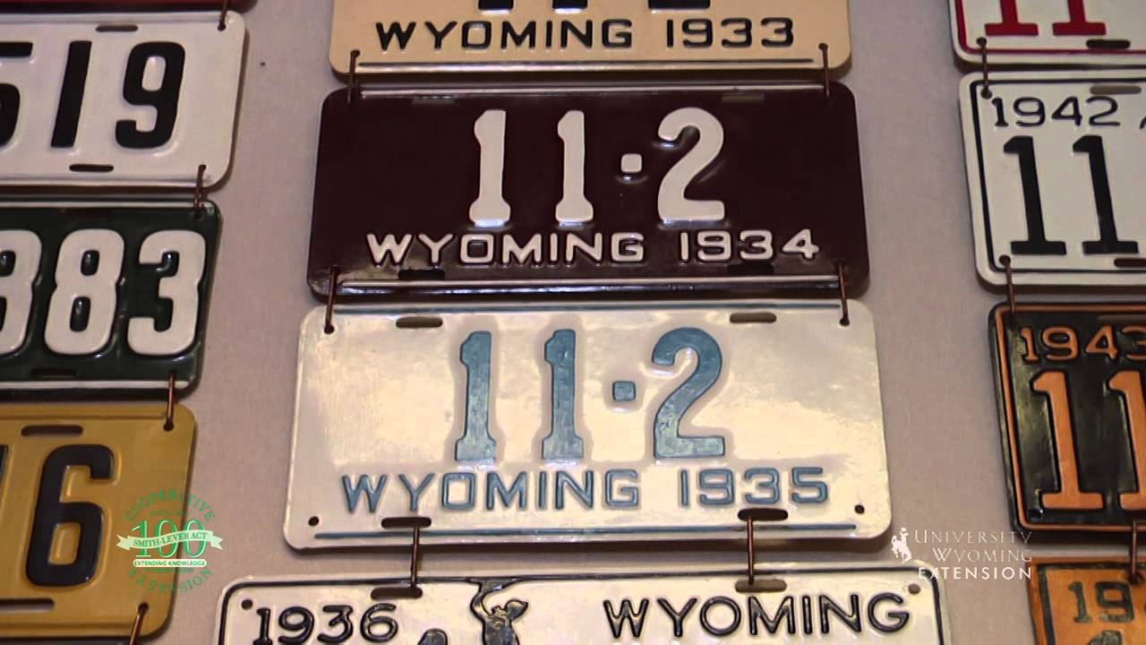 A History of the Wyoming License Plate - YouTube