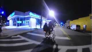 Yuba Mundo Cargo Bicycle in Baltimore Night Ride