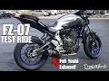 Yamaha FZ07 Test Ride - Wheelie Monster? Giveaway Winner!
